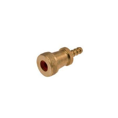 Pump connector run small brass