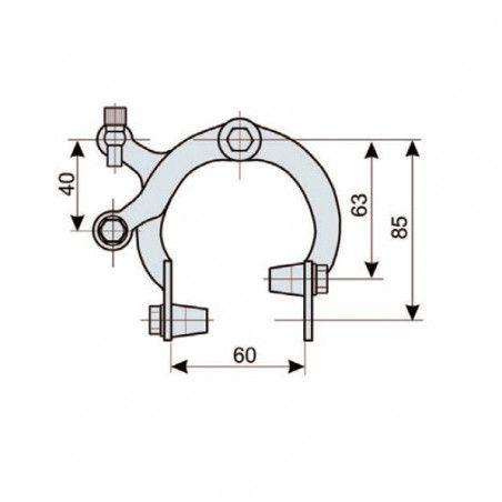 Pair brakes iron Holland