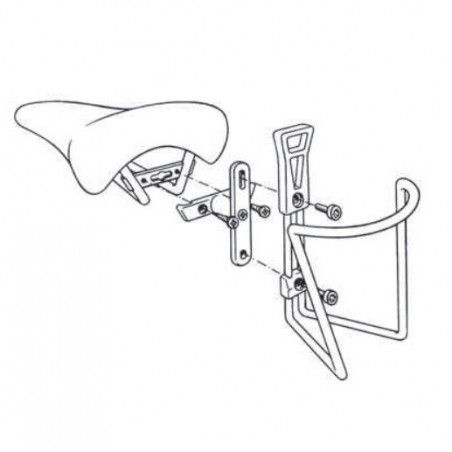 Attack saddle for bottle cage