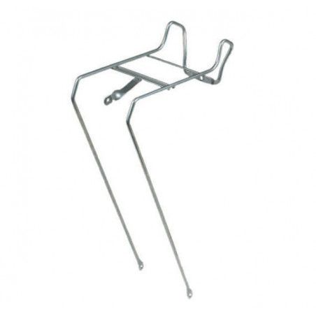 """Front rack with central light-holder silver 26"""""""