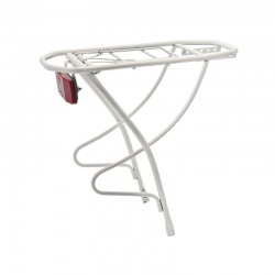 Rear rack in steel City White 28