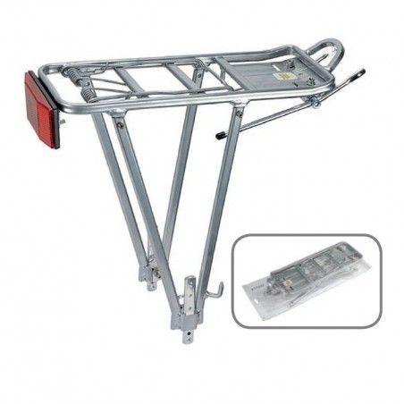 Rear rack Universal silver Aluminium