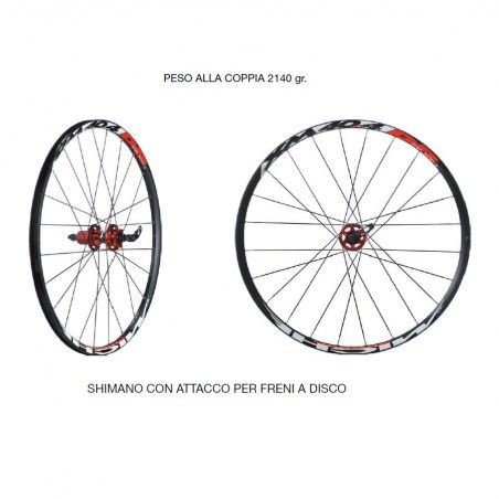 Mtb Wheelset Miche XM 40.4 DB for Shimano 8-9 speed.