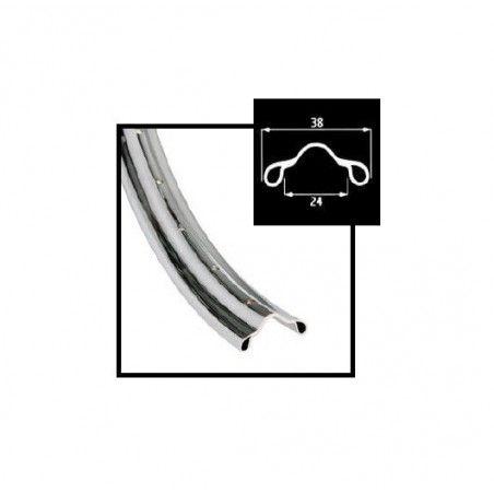 Circle chromed steel R 28 5/8