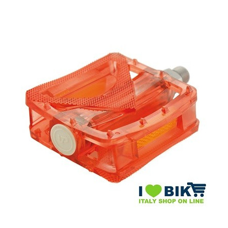 Couple of transparent polycarbonate Pedals Red