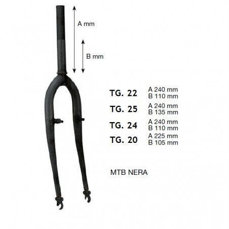 Fork MTB 26 black sleeve u 25.4 mm