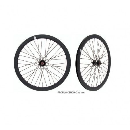 Wheelset Black Fixed - profile 43 mm