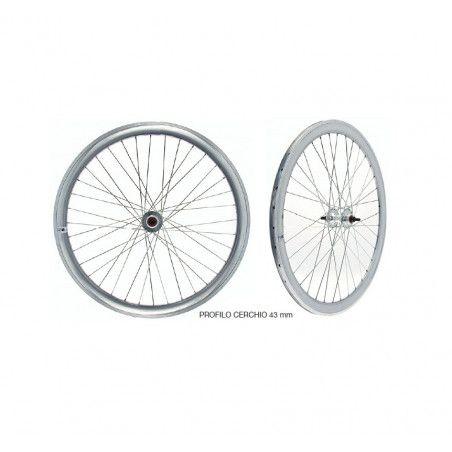 wheels fixed to fixed gear single speed bike silver mirror