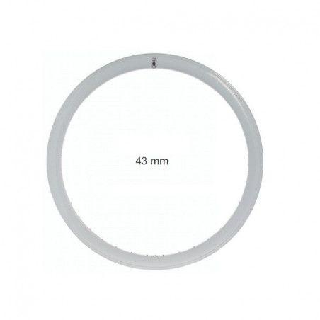 Circle in allumnio Fixed white holes 36 - 43 mm profile