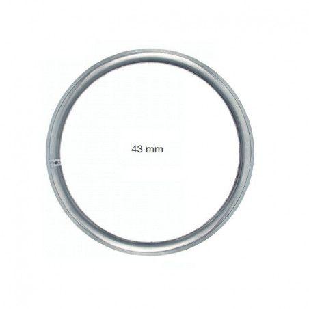 Circle in allumnio Fixed 36 holes silver - profile 43 mm