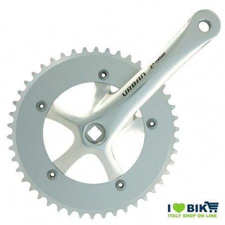 45 545 65SK guarnitura fixed bike urban shop on line silver alluminio