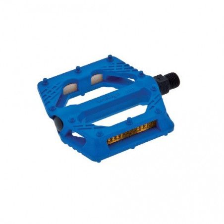 Couple of pedals Fixed / Bmx plastic pin with large 9/16? Blue