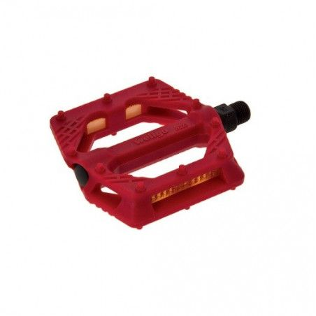 Couple of pedals Fixed / Bmx plastic pin with large 9/16? Red,