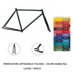 Frame single speed steel steering 1 '- VARIOUS COLORS - with welds