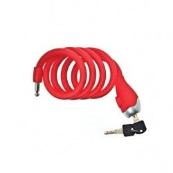 Coil lock Silicone 120 cm x 12 mm red opaque