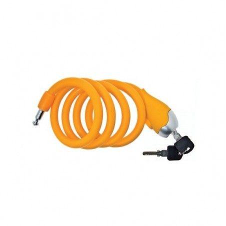Coil lock Designed to in Silicone 120 cm x 12 mm orange opaque