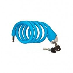 Coil lock Silicone 120 cm x 12 mm blue opaque