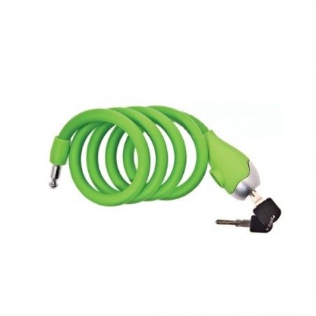 Coil lock Silicone 120 cm x 12 mm green opaque