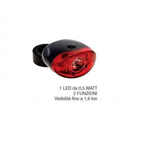 Basic Headlight Super Bright 1 LED 0.5 watt 2 functions