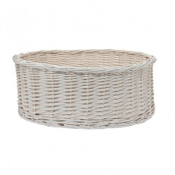 White wicker basket Lolita