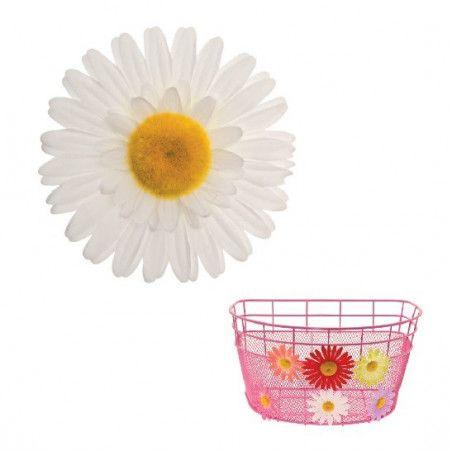 FI60B Fiore Margherita Grande bianco per ornare cesto bici accessori colorati fiori plastica decorazioni