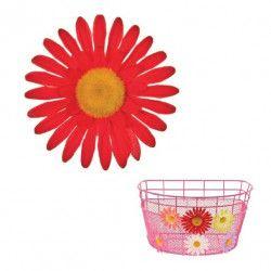 FI60R Fiore Margherita Grande rosso per ornare cesto bici accessori colorati fiori plastica decorazioni