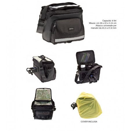 the Handlebar Bag BRN Voyager with universal quick