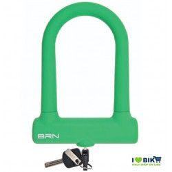 LU15V Lucchetto ad arco Fixed Lock verde per bici in silicone negozio accessori ricambi vendita bici