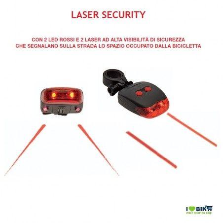 FA57 luce Fanale Fanale posteriore con 2 Laser Security e 2 Led rossi RICAMBI bici vendita on line