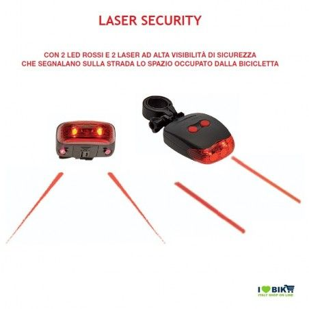 Fanale bicicletta posteriore Laser Security