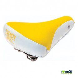 SE08G Sella gialla per bicicletta colorata per bici graziella retro accessori bici e ricambi su ilovebike