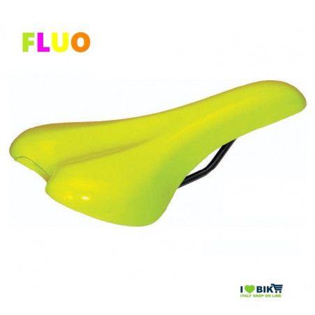 SE12FG Sella fiallo fluorescente per bici Fixed Mtb fluo scatto fisso single speed accessori e ricambi on line