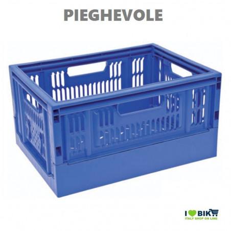 Summer folding basket blue