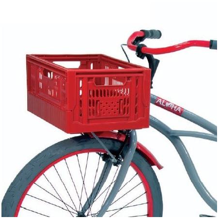 Summer folding basket red