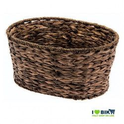 Natural Hyacinth oval bike basket
