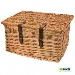 Wicker bike basket Baule big natural cover