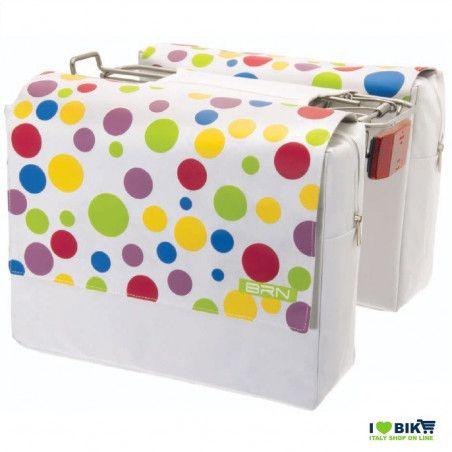 Bag rear white polka dots
