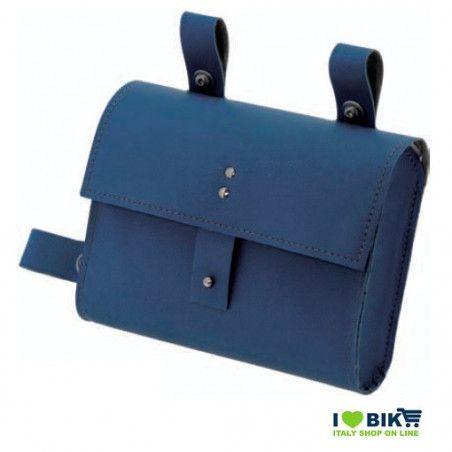 CE05B Borsa bicicletta Fixed al telaio in similcuoio blu accessori e ricambi bici negozio bici on line