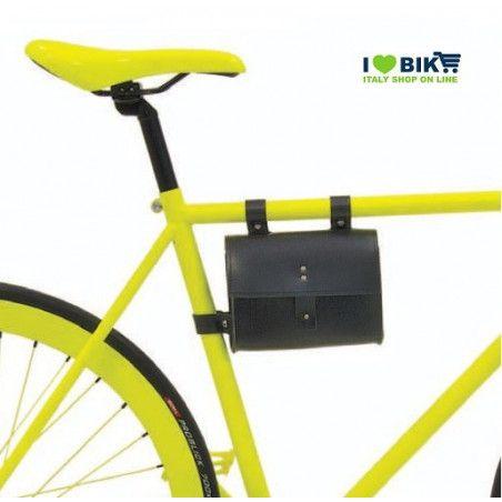 CE05N Borsa bicicletta Fixed al telaio in similcuoio nero accessori e ricambi bici negozio bici on line