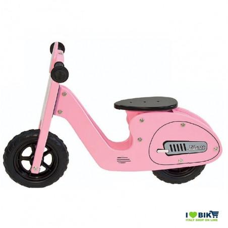 BI31R bicicletta per bambina senza pedali rosa in legno accessori e ricambi on line ilovebike