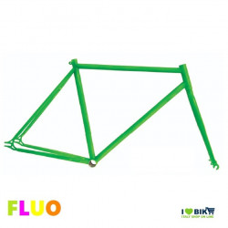 TE01FV53 telaio bici fixed fluorescente verde fluo per bicicletta accessori e ricambi on line i love bike shop