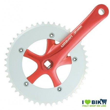 45 545 65RK guarnitura bici fixed rossa accessori bici on line shop
