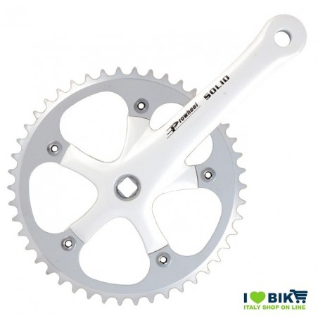Crank SOLID 46T X 3/32 X 165 - WHITE