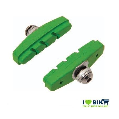 PAT60V pattini per freni bicicletta colorati verde accessori e ricambi on line bici fixed colorati su ilovebike