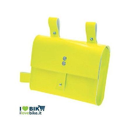 BO05FG fixed bike borsa giallo fluo al telaio per bici corsa scatto fisso vendita ol line shop accessori