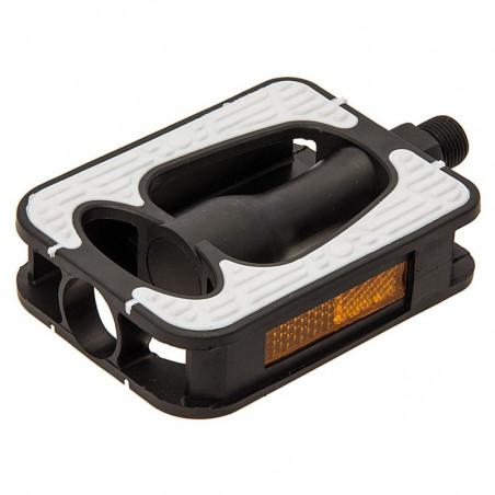 PED66B Pedali City-Bike con gomma antiscivolo Comfort bianchi