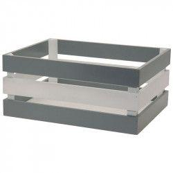 CE72GB cesto anteriore in legno grigio e bianco
