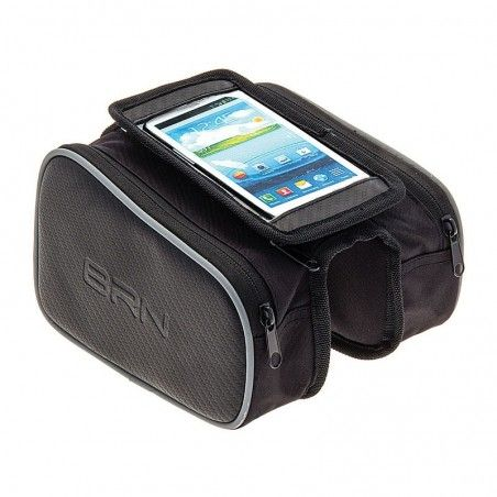 Purse Double compartment black for smartphone