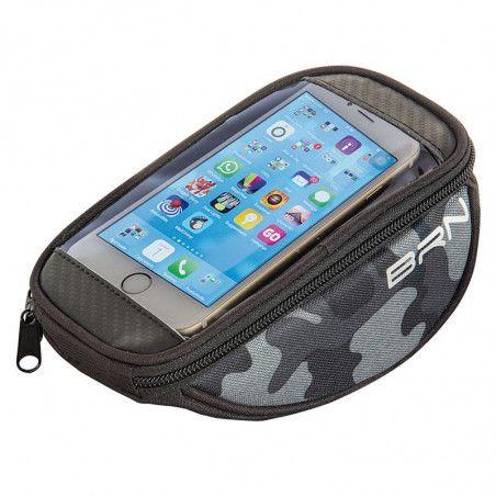 Handbag bike FIXED smartphone camuflage gray