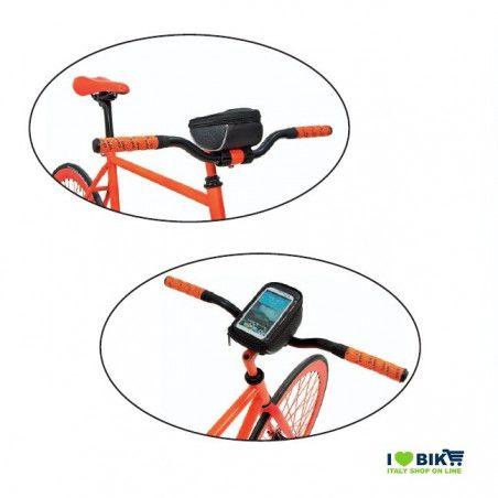 BO86O Borsetta BRN FIXED portaoggetti e porta smartphone arancione